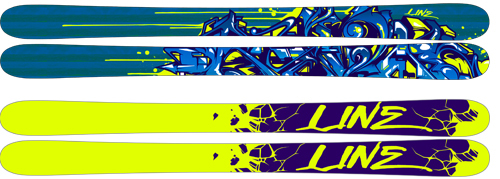 '10 Line Blend All Terrain Freestyle Skis