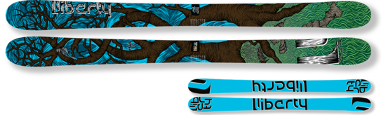 '15 Liberty Helix All Mountain/Freeride Skis